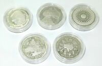 .1989 AUSTRALIAN MASTERPIECES IN SILVER 50 CENT COMPLETE SILVER PROOF SET
