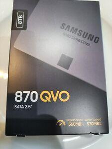 "SAMSUNG 870 QVO Series 2.5"" 8TB SATA III Samsung 4-bit MLC V-NAND Internal *NEW*"