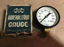 "2-1/2"" Marshalltown Air Guage 0-200psi NOS"