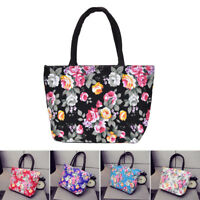 Fashional Floral Borse da donna Canvas Casual Tote Bag Shopping Bag Lunch Ba PQ
