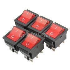 250V 3 Pin Interruptor rectángulo iluminado LED coche DASH automotriz a1