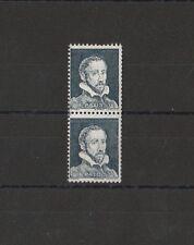 timbre France  Palissy  gris   Pa 12  paire de roulette avec numero rouge