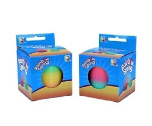 RAINBOW SPRING - SC44 COLOURFUL KIDS CHILDRENS FUN SPRINGY PLASTIC TOY SLINKY