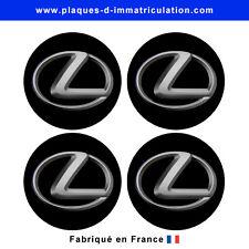 sticker Lexus noir pour cache moyeu de jante (lot de 4)