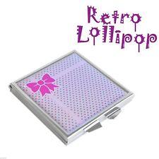 Retro Lollipop Lilac & Pink Gift Design Handbag Mirror XHMRL002