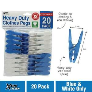 20 Pack Pegs Heavy Duty Deluxe Clothing Line Washing Laundry Bulk High Quality