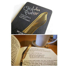 1x Stylish Gold Plated Hollow Animal Feather Bookmarks Book Mark Office Supplies