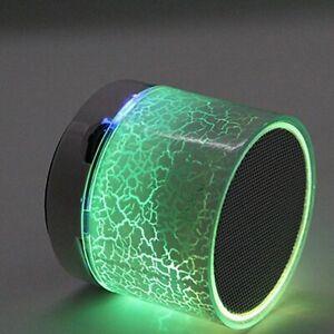 Bluetooth Speaker Mini Wireless Loudspeaker Crack LED TF Card USB Subwoofer Port