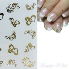 Nagel Sticker Gold Nailart Tattoo Herz Nagelaufkleber mit goldenem Herz 98
