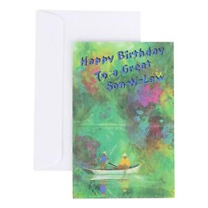 Birthday Greeting Card for Son In Law - Happy Birthday To a Great - Deluxe; boat