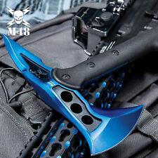 M48 Blue Survival Tomahawk Tactical Throwing Axe w/ Sheath Battle Hatchet Knife