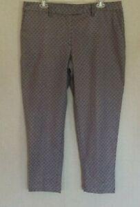 Lady Hagen Womens Pants  Size 12 Brocade Ankle Golf Slacks Navy Eclipse Stretch