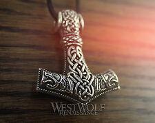 Large Viking Thor's Hammer - Mjolnir Pendant --- Scandinavian/Medieval/Wolf/Bear