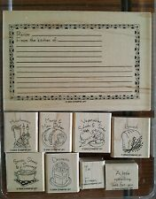 Stampin' Up WHAT'S FOR DINNER Set of 9 Rubber Stamps Lot Food Recipe Card