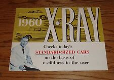 Original 1960 Rambler X-Ray Standard Sized Cars Comparison Sales Brochure 60 AMC