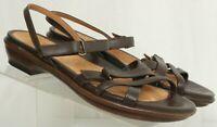 Dansko Brown Leather Strappy Open Toe Casual Sandals Women's US 10.5 EUR 41
