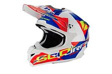 Cross ENDURO casco MOTO integrale Scorpion VX-15 EVO Air AKRA bianco Blu ->L