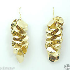 14k Gold plated dangle plates earrings
