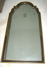 John Richard Black Painted Arched Wall Mirror