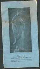 Novena antigua Beato Martin de Porres andachtsbild santino holy card santini