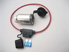 Metal Cigarette Lighter Socket, Power Outlet 12 Volt W/ Fuse Marine Motorcycle