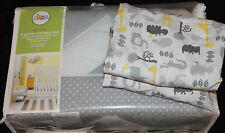Circo Zigs & Zags 5 Pc Nursery Crib Bedding Set gray yellow safari chevron #490