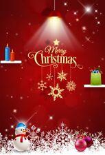 Christmas Background Studio Photography Props Backdrop Snowman Light 5x7ft Vinyl