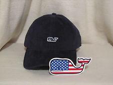 Vineyard Vines Boy's Corduroy Whale Cap/Hat & FREE Flag Whale Sticker