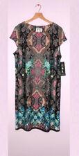 Karin Stevens Dress KSL 22W NWT Lovely Floral Paisley Print Pink Multi color