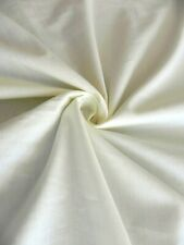 Cotton Solid Voile Ivory Fabric by The Yard