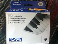 New Genuine Epson S020093 S020187 Black Ink Cartridge Stylus Color 400 600.  #R
