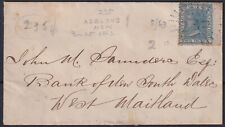 1863 NSW: Rays '235' RRRR of ADELONG tie 2d QV definitive to small cover