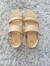 Isaac Mizrahi Double Strap Leather Sandals 8.5