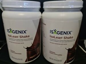 2× Isagenix Dutch Chocolate Isalean Nutrional Protein Shake Meal Replacement