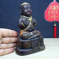Kuman Thong Boy Spirit doll Ghost Statue Guman Buddha Amulet Call Money 6.0''H