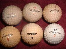 New listing Vintage golf balls,  Mac Gregor. Jack Nicklaus, Gene Littler, Mike Souchak, Tour