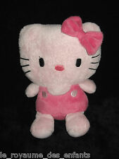 Doudou Peluche Hello Kitty noeud rose Sanrio 19 cm