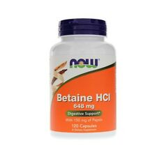 Betaine HCL, 648mg x 120Caps, Now Foods, 24Hr Dispatch, Digestion Health