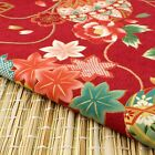 Red Gold Balls & Floral Japanese Oriental Fabric Cotton Fat Quarter FQ #F0047