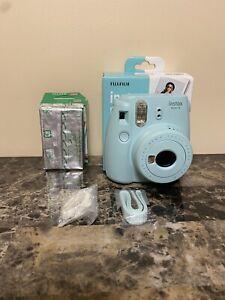 Fujifilm Instax Mini 9 (Ice Blue) Instant Camera with Mini Film Pack