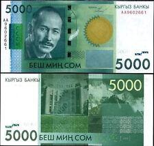 Kyrgyzstan 5000 Som 2009 UNC**New