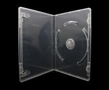 100 x 1 Fach DVD Hüllen für 1 CD / DVD / Blu-Ray Hülle | 14mm Transparent / Klar