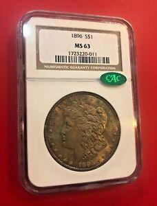 1896 Morgan Silver Dollar NGC MS63 CAC
