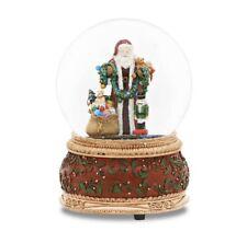 New Roman 6� Musical Glitterdome Santa W/ Toys Musical Snowglobe Deck The Halls