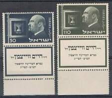 Israël postfris 1952 MNH met tab 77-78 - President Weizmann