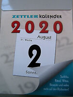 Kalender 2020 Zettler Tagesabreiss-Kalender Tagesabriß Abreißkalender Tag