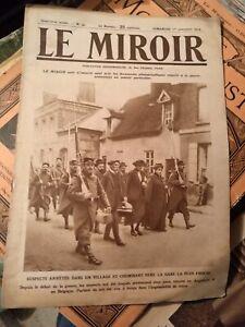"""28 journaux """"LE MIROIR"""" 1914-1917"""