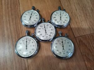 Soviet stopwatch 5 pieces non-working