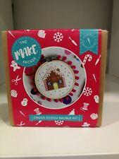 The Make Arcade -  Gingerbread House Cross Stitch Kit