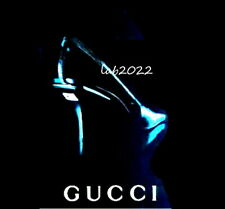 Gucci Tom Ford Rare 1998 Ad & Runway Shoe Monogram GG And Croc